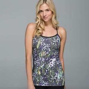 Lululemon Power Y Tank Floral Polka Dot Top Yoga